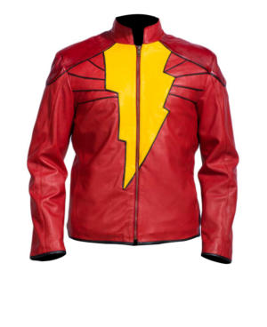 Red Adam Injustice Leather Jacket 1