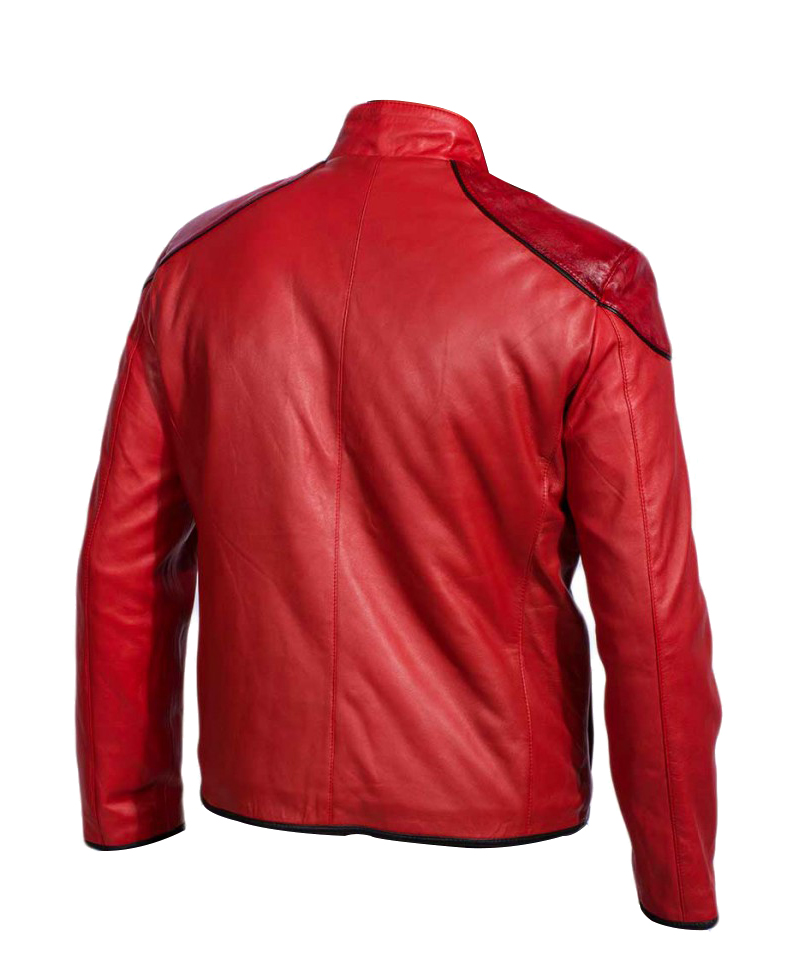 Red Adam Injustice Leather Jacket 3