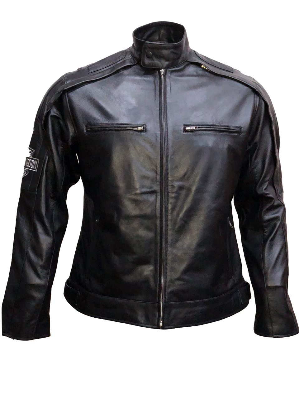 Harley Davidson Reflective Willie G Skull Leather Jacket