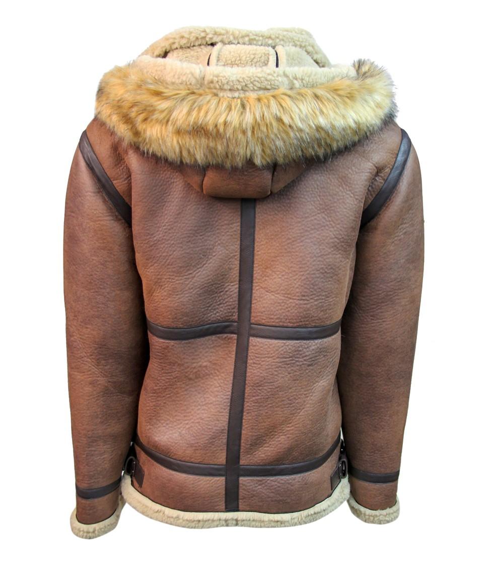 Top Gun Premium Wool Blend Shearling Leather Jacket 1