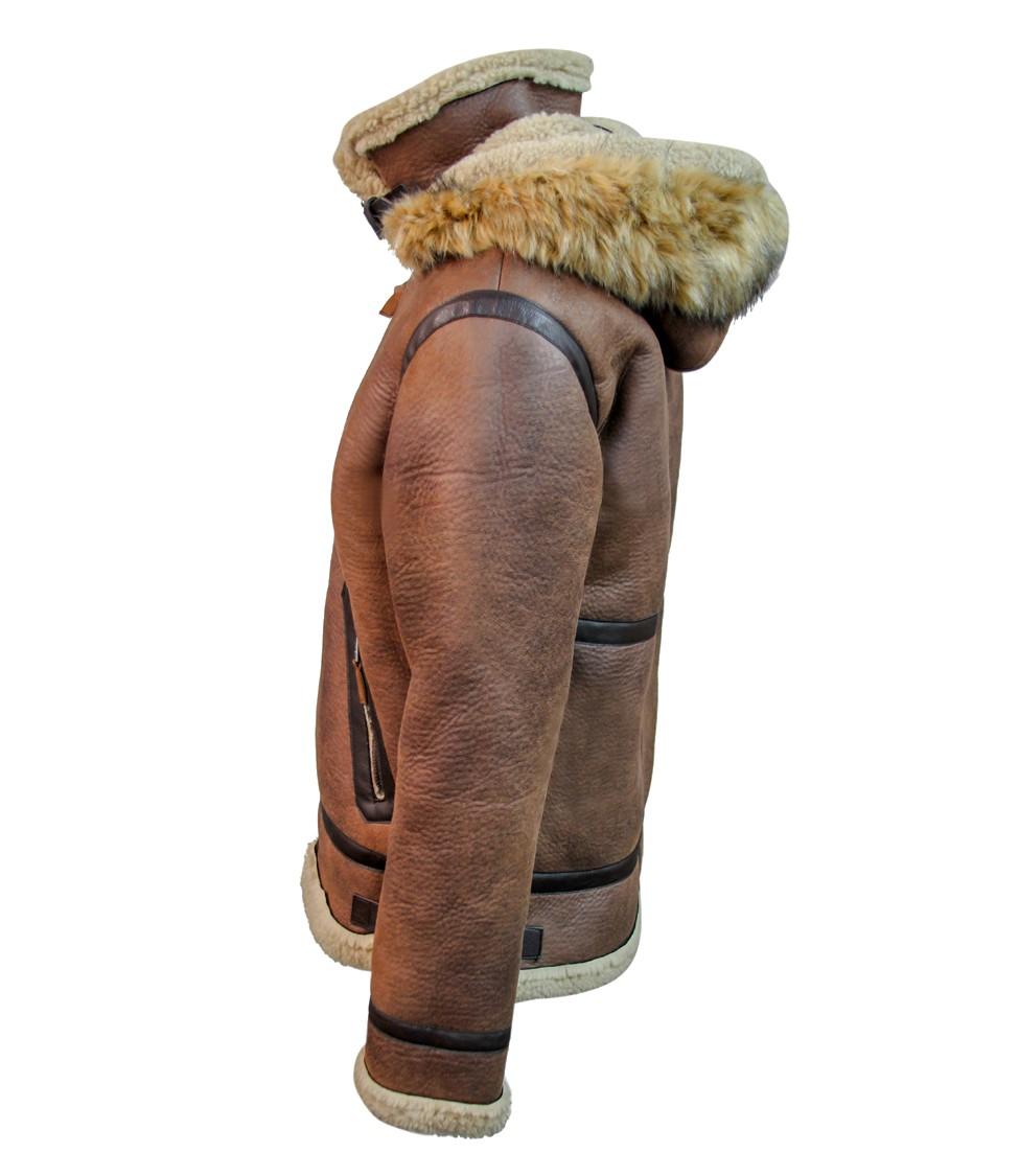 Top Gun Premium Wool Blend Shearling Leather Jacket