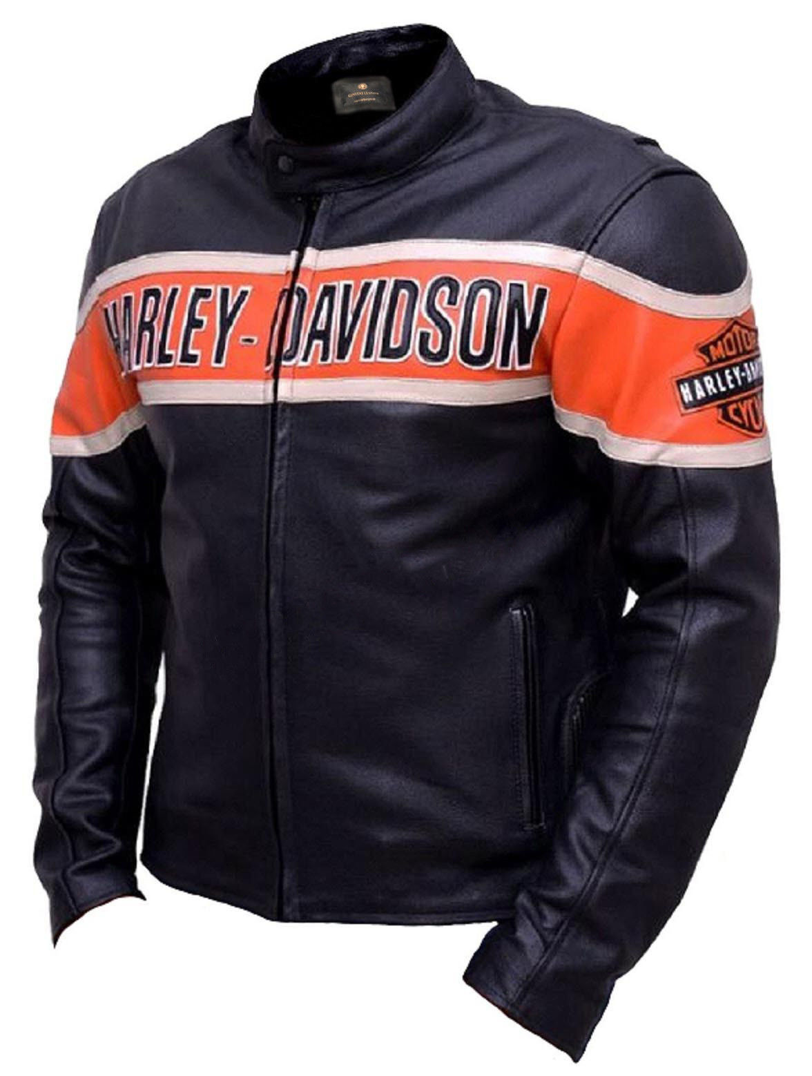 Harley Davidson Biker Genuine Leather Jacket2