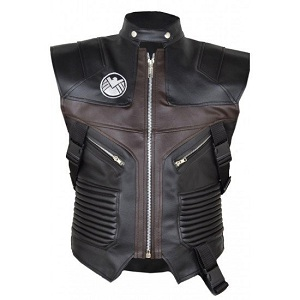 Hawkeye The Avengers Jeremy Renner Leather Vest
