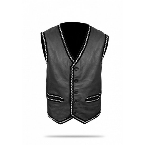 The Warriors Movie Leather Vest5