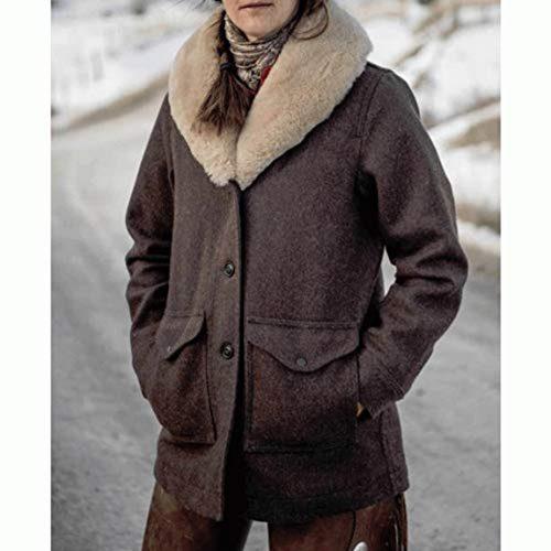 Kelly Reilly Beth Dutton Brown Wool Coat