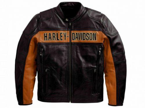 HARLEY DAVIDSON DISTRESSED BIKER LEATHER JACKET