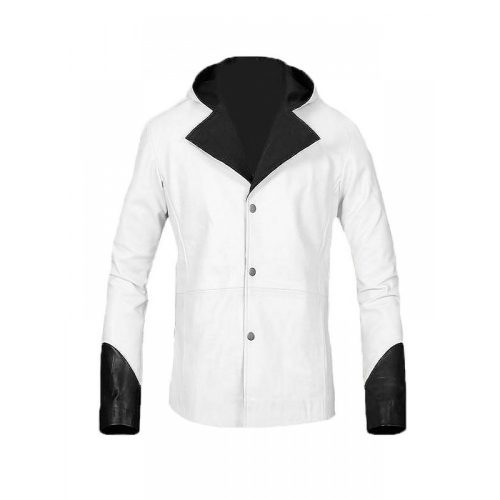 DEVIL MAY CRY VIDEO GAME WHITE LEATHER JACKET