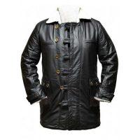 dark knight rises bane genuine leather black trench coat