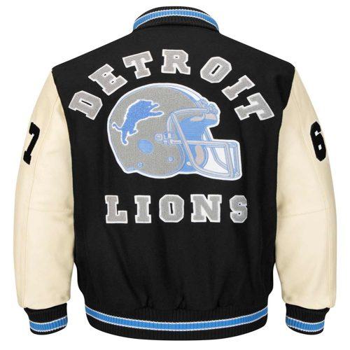 detroit lions wool varsity jacket