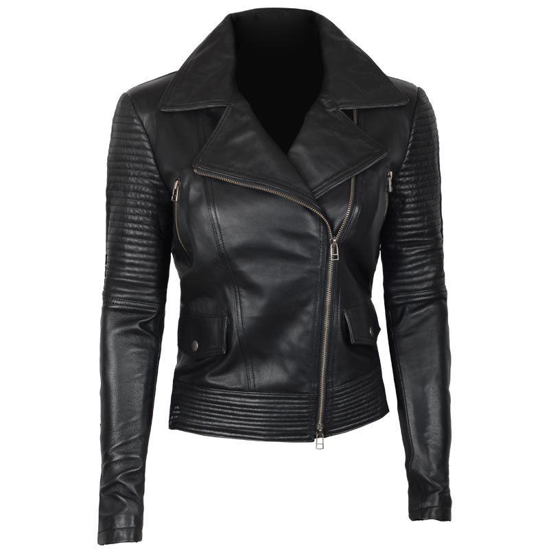 Gal-Gadot-Leather-Jacket