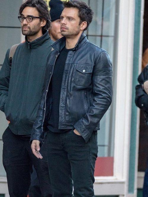 sebastian stan leather jacket